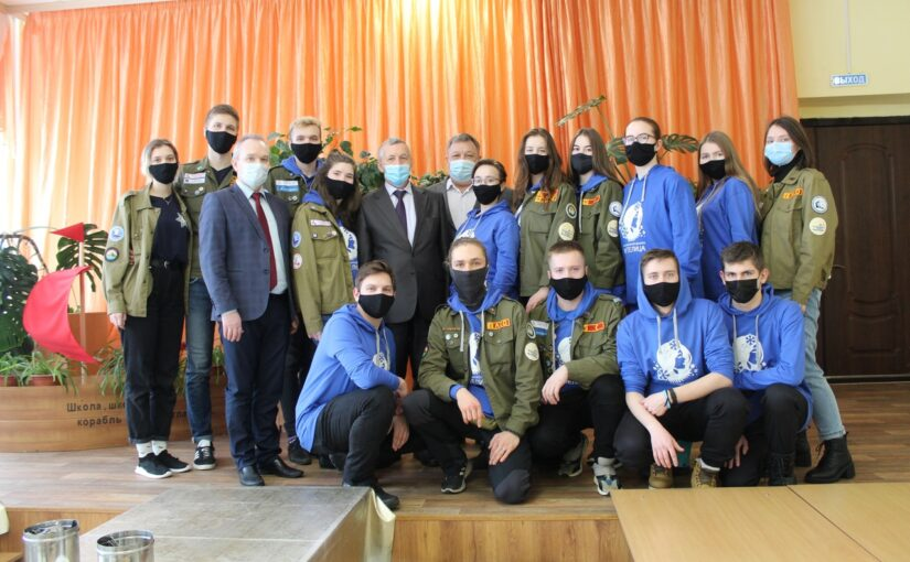 """Participants of the project """"Frosty Squad"""" met with the Rector of VSU"""