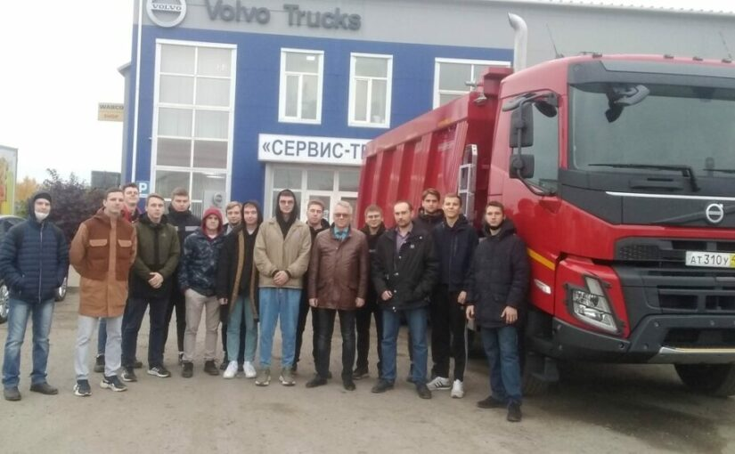 From theory to practice: VSU students visited workshops for repairing trucks